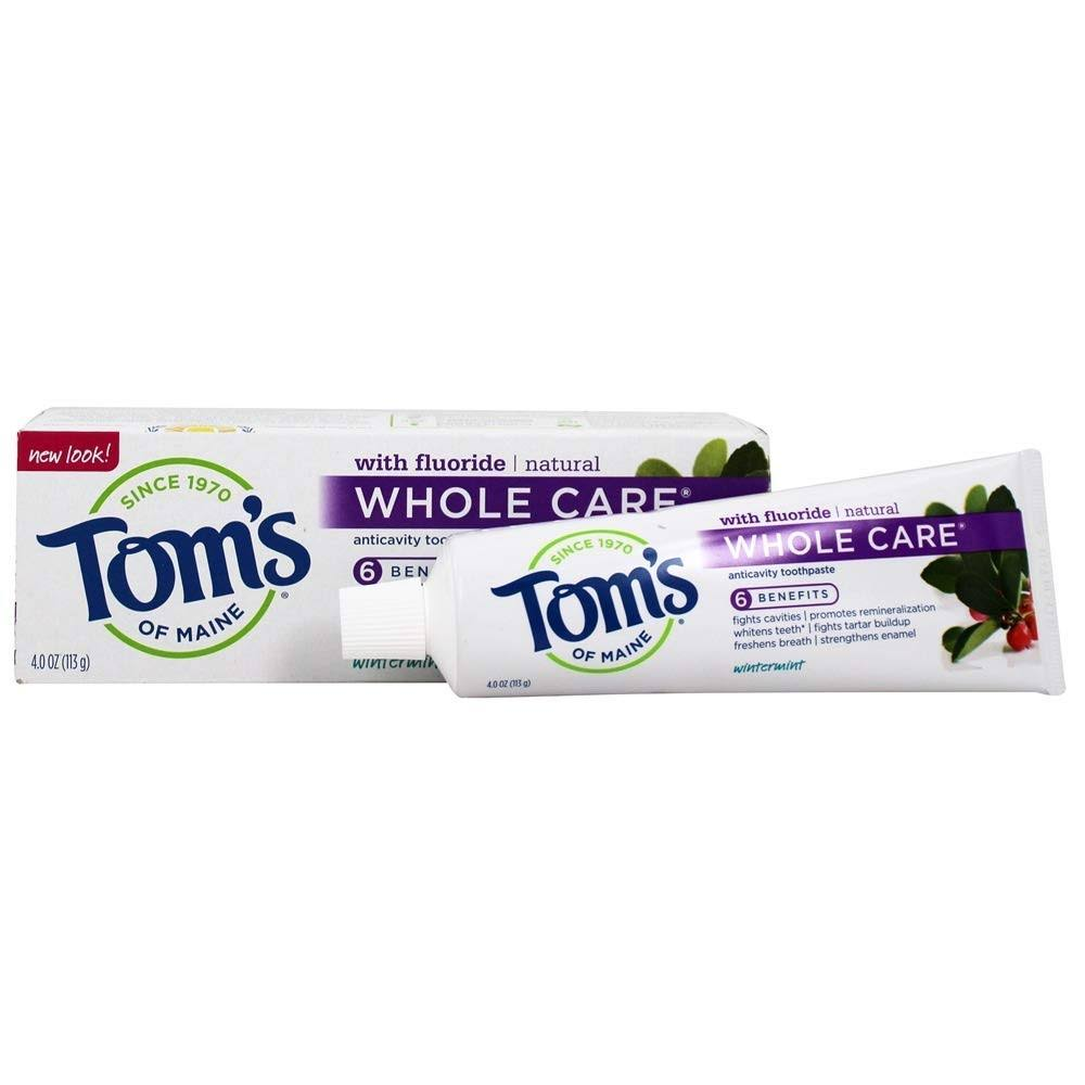 Tom's of Maine Whole Care Anticavity Toothpaste - Wintermint 4oz