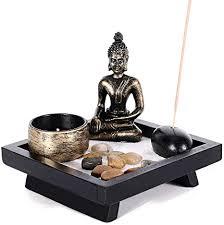 gomaihe vintage buddha figur deko mit teelichthalter 12 5 x 12 5cm mini zen garten räucherstäbchenhalter statue kerzenständer kerzenleuchter zimmer