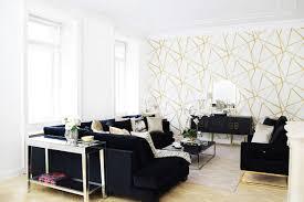 black velvet wohnzimmer in schwarzem samt looks