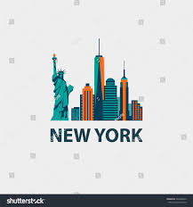 Royalty free New York city architecture retro vector…