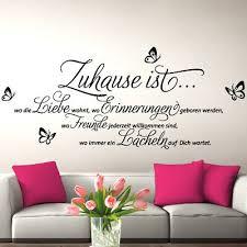 dekoration wandtattoo familie spruch wohnzimmer in diesem