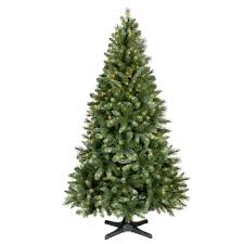 7ft Prelit Artificial Christmas Tree Douglas Fir Clear Lights Rotating Stand
