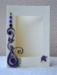 Quilled Card Paper Quilling Photo Frame Blank Handmade
