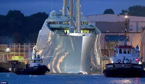 330m superyacht owned by russian billionaire sails through first