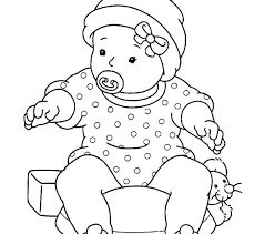 Disney Babies Coloring Pages Baby Princess Cute