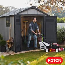 Keter Woodland High Storage Shed by Sheds Costco Uk