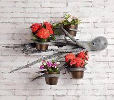 Octopus Wall Hanging Art Sculpture Planter Garden Flower Pot Plant Holder 31W