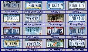 Disney Vanity Plates All Ears Guest Blog
