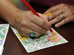 Coloring A Postcard By Adult Book Queen Johanna Basford Photo Susan Tripp Pollard