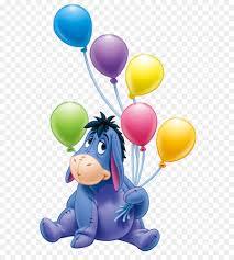 Eeyore s Birthday Party Winnie the Pooh Clip art Eeyore with Balloons PNG Transparent Cartoon