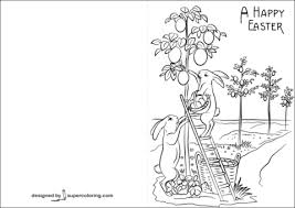 Click To See Printable Version Of A Happy Easter Card Coloring Page
