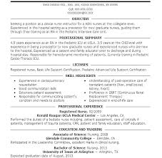 Graduate Rn Resume Objective by New Grad Nursing Resume Objective Free Templates Inside