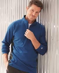 champion s230 colorblocked performance quarter zip sweatshirt
