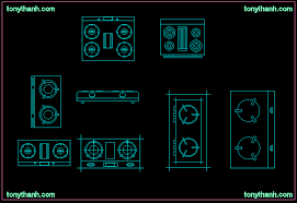 Autocad Stove Block Drawing Gas Cooker Free Download