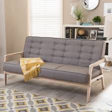 Baxton Studio Chair Bed by Baxton Studio Mid Century Masterpieces Grey Sofa Free Shipping