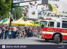 100 Black Fire Truck MiamiMiami Florida Book Fair International Parade Students Fire