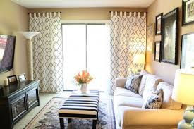 stenciled curtains in a family room makeover stencil stories
