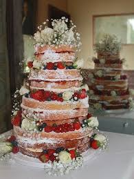 Naked Cake With Berries And Babys Breath