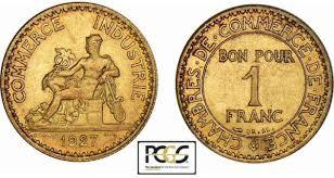 chambre du commerce et de l industrie bon pour 1 franc chambre de commerce 1920 à 1927 monnaies de