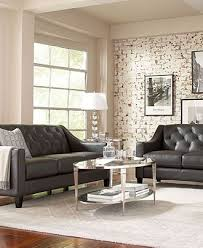 Grey Leather Sectional Living Room Ideas by Awesome Gray Leather Living Room Furniture Gray Leather Sectional