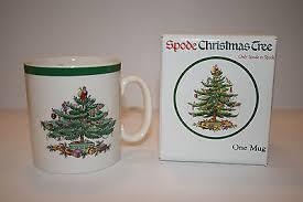 Spode Christmas Tree Mug Cafe Shape by Spode Christmas Tree Cafe Tea Mug Green Trim 14 Oz New In Box W