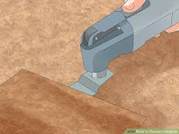 Laying Tile Over Linoleum Concrete by How To Remove Linoleum 13 Steps With Pictures Wikihow