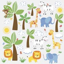 Tree Wall Decor Ebay by Roommates Rmk2635scs Jungle Friends Peel And Stick Wall Decals