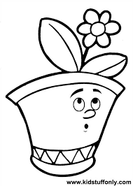 Luxury Flower Pot Coloring Page 68 For Seasonal Colouring Pages With