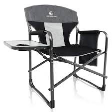 Amazon.com: ALPHA CAMP Oversized Camping Director Chair Heavy Duty ... Directors Chairs With Folding Side Table Youtube Mings Mark Stylish Camping Brown Full Back Chair Costway Compact Alinum Cup Deluxe Tall Director W And Holder Side Table Cooler Old Man Emu Adventure 4x4 With Black 156743 Rv Outdoor Meerkat Bushtec Heavy Duty Marquee Alinium Home Portable Pnic Set Double Chairumbrellatable Blue Shop Outsunny Steel Camp