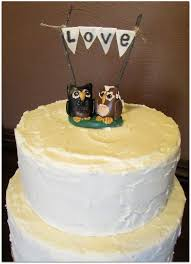 Rustic Style Wedding Cake With Owl Toppers By Samanthas Sweets Topper Available On My Etsy