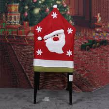Xmas Christmas Tablecloth Red Hat Chair Cover Navidad Table