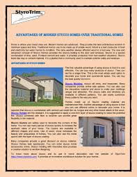100 Modern Stucco House Advantages Of Modern Homes Over Traditional Homes By