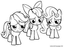 3 Little Rainbow Dash Pony Coloring Pages