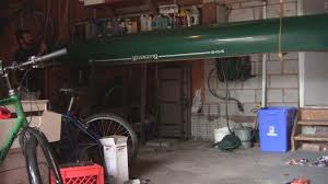 Kayak Ceiling Hoist Pulley by How To Build A Canoe Hoist Storage System In A Garage Youtube