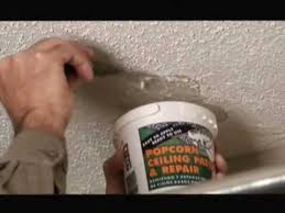 Homax Ceiling Texture Home Depot by Popcorn Ceiling Patch Repair Video Youtube