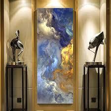 großhandel wangart abstrakte farben canvas poster blau landschaft wandkunst malerei wohnzimmer wandbehang moderne kunstdruck gemalt
