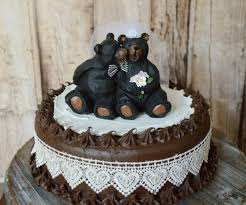Black Bear Wedding Cake Topper Country Weddings Bride And