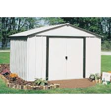 arrow galvanized steel storage shed 10x8 arrow shed woodridge 10 x 8 ft steel storage shed hayneedle