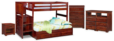 the ranger bunk bed collection merlot value city furniture