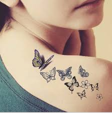 Butterfly Tattoo Ladies Back Fresh Water Transfer Female Small Proof Stickers