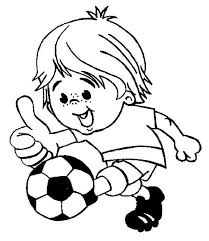 Soccer This Little Boy Is Playing Happily Coloring Page