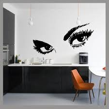 pochoir mural chambre grandes yeux glam beauté pop wall decal sticker mural