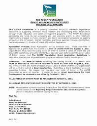 Letter Intent Sample Grant Application Juzdeco