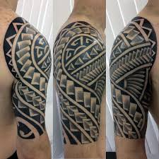 Fresh Polynesian Tattoo Half Sleeve Designs 88 For Your Name Tattoos With