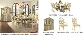buy online direct ortanique rect drm pedestal tbl set buy