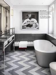 Gray Chevron Bathroom Decor by Best 25 Grey Large Bathrooms Ideas On Pinterest Grey Tile