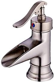 nostalgie wasserfall bad wasserhahn retro matt silber waschtischarmatur einhebel mischbatterie waschbecken armatur einhandmischer waschtischbatterie