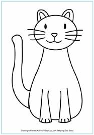 Cat Colouring Sheet