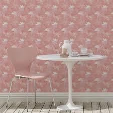 blumentapete wildflowers im retro look in rosa florale tapete für wohnzimmer