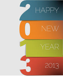 Vector set of Creative New Year 2013 design elements 03 Vector